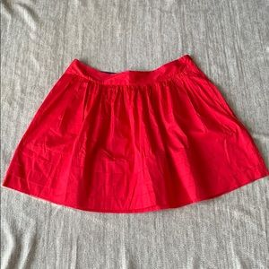 Banana Republic red mini skirt size 14